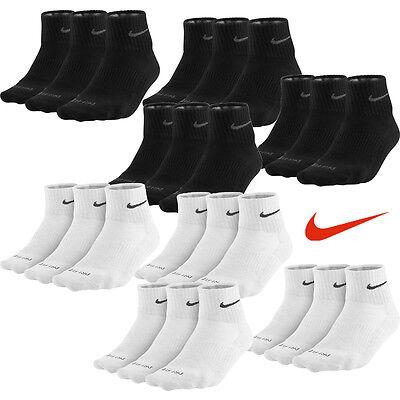 Paar Low Cut Sock (6 Paar NIKE Dri-FIT Sneaker Socken schwarz weiß 42-46 6er Pack Füßlinge Low Cut)