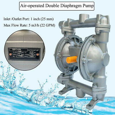 Qby3-25al 22gpm Double Diaphragm Pump Air-operated1inletoutlet Port Industrial