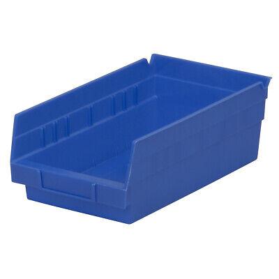 Akro-mils 30130blue Blue Shelf Bin 11-58d X 6-58w X 4h 12 Pack