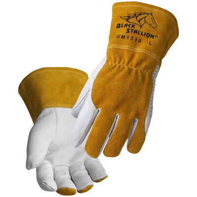 Revco Black Stallion Gm1510 Goatskin Mig Welding Gloves With Dragpatch - Medium