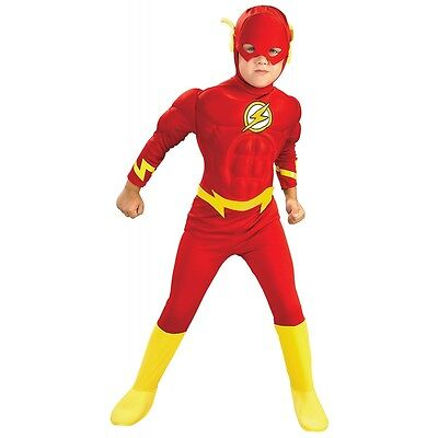 Flash Costume Kids Toddler Superhero Halloween Fancy Dress (Flash Halloween)