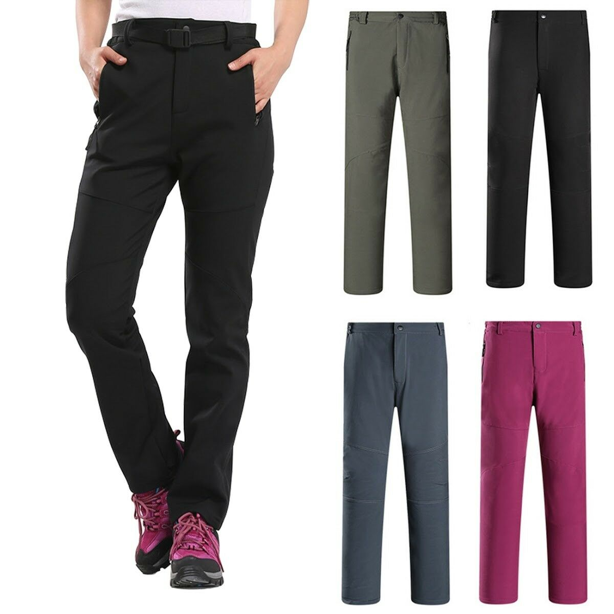 Thick Thermal Women Windproof Winter Snow Ski Pants Trousers