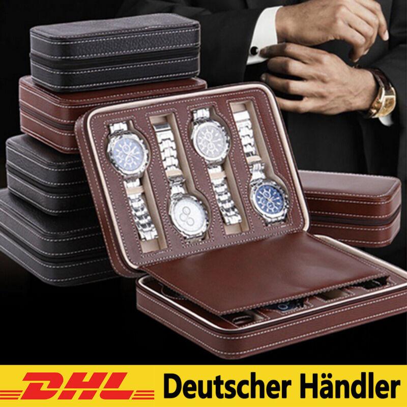 PU Leder Uhrenbox Uhrenkoffer für 8 Uhren Uhrenaufbewahrung Uhrenetui Reiseetuis
