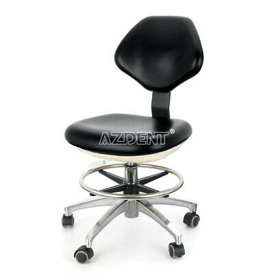 Dental Dentist Stool Height Adjustable Mobile Hydraulic Rolling Chair Pu Black