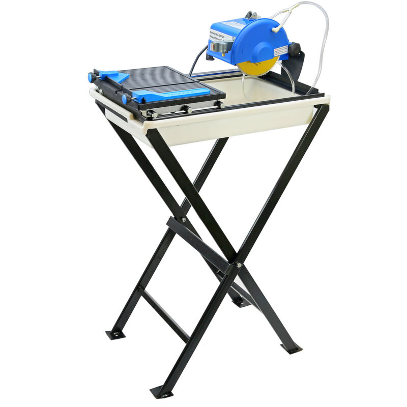 "7"" Ceramic Tile Saw with Stand Jobsite Cutting Machine 7-inch Blade Tile Set"