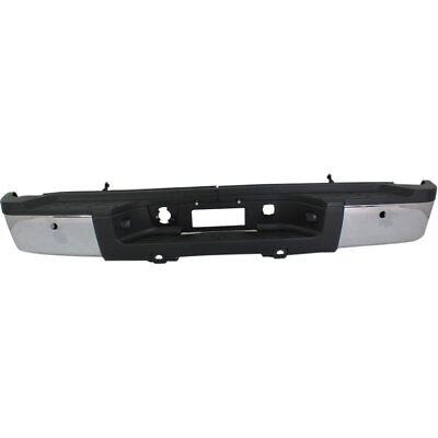 Step Bumper Assembly For 2011-13 Chevy Silverado 2500HD w/SRW/PAS Holes, Chrome