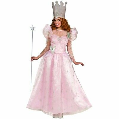 Glinda Costume Dress Deluxe The Good Witch Wizard of Oz Glenda - Fast Ship -