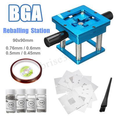 90x90mm Bga Reballing Station 10x Universal Templates Stencils 4x Balls Kits