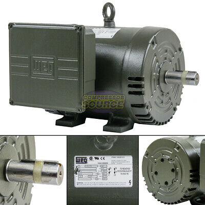 5hp Single Phase Electric Motor Air Compressor Duty 184t Frame 34503500 Rpm Weg
