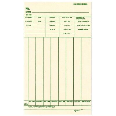 Weekly Time Cards Fits Amano Ex9000 Lathem 8700 Simplex Centennial 1000ct.