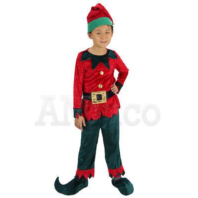 Unisex Children Kids Christmas Elf Outfit Santas Little Helper Cosplay Costumes](Children Christmas Costumes)