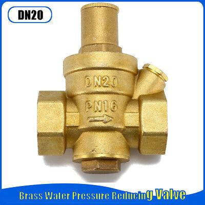 Dn20 Bsp 34 Adjustable Brass Water Pressure Reducing Regulator Valve 1.6mpa