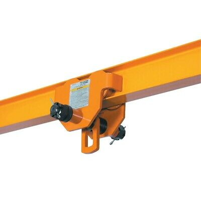 2 Ton Push Beam Trolley For Heavy Loads To 4000 Lb Fits Straight Curved I Beam