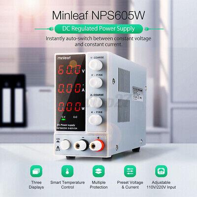Us Minleaf Nps605w Dc Power Supply 300w 0-60v 0-5a Switch Adjustable Digita