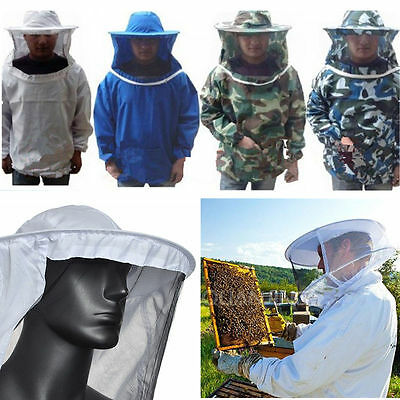 Beekeeping Jacket Veil Smock Protective Equipment Bee Keeping Hat Sleeve Suits
