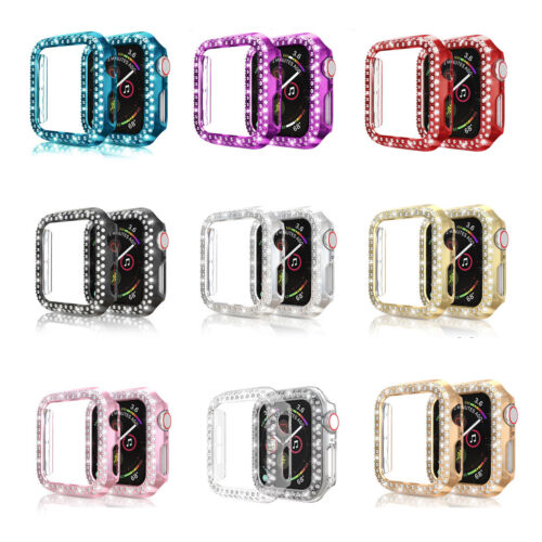 Bling Rhinestone Protector Bumper case for Apple Watch Series 6 5 4 3 2 1 Women