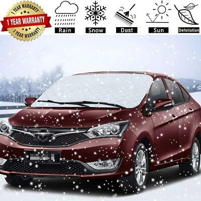 SuBleer Silver Car Windshield Cover for Ice and Snow Sun Shade UV Protection (Car Windshield Cover For Snow And Ice)