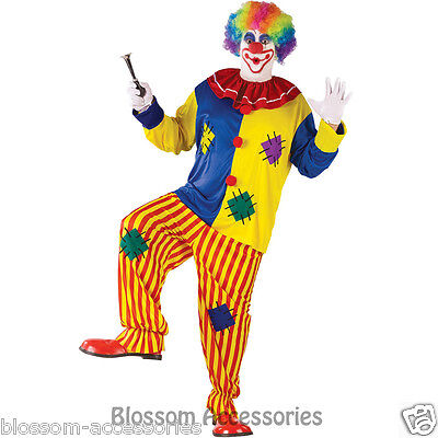 Top Scary Costumes (CL375 Mens Big Top Clown Mascot Scary Funny Circus Joker Halloween)