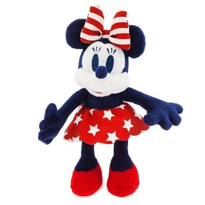 "Disney Store Authentic Minnie Mouse Americana Vintage Style Plush -  8 1/2"" NWT"