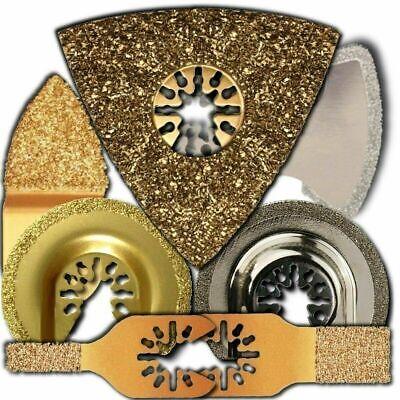 6 Piece Oscillating Tool Uni-fit Tile Blades-fits Ryobi Jobplus By Integra