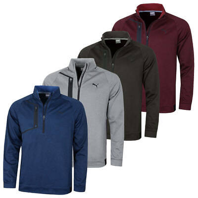 Puma Golf Mens Envoy 1/4 Zip DryCELL Stretch Heather Pullover 43% OFF RRP