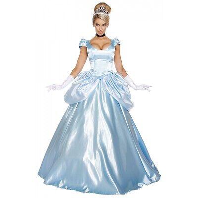 Cinderella Costume Adult Princess Masquerade Halloween Fancy Dress