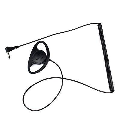 20-20KHz 3.5 mm D Shape Earpiece Earhook for ICOM Yaesu Radio+3.5mm mono jack YS