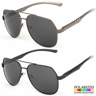 Men Metal Aviator Pilot Polarized Mirrored Lens Driving Uv400 Sunglasses New