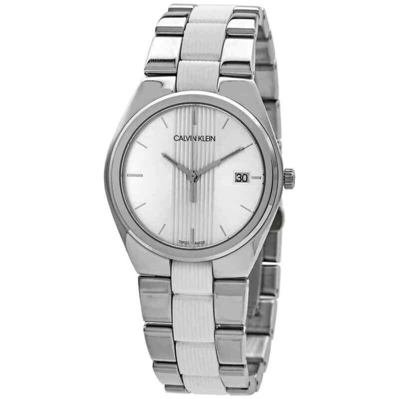Calvin Klein Contra Quartz Silver Dial Ladies Watch K9E231K6