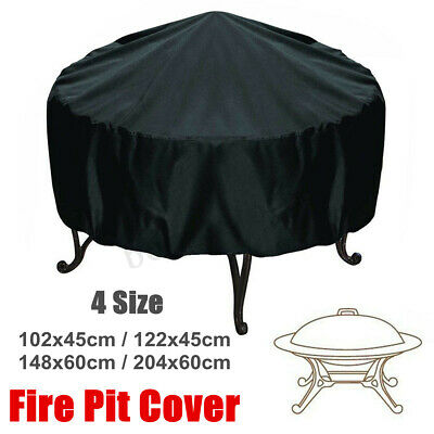 4 Size Waterproof Outdoor Patio Round Fire Pit Cover Protection Dustproof US -