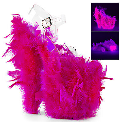Pink Feather Shoes (8