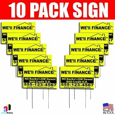 10x Well Finance No Banks Signs Your Phone Number And Website Real Estate