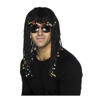Rick James Wigs (Black Braided Wig with Beads Adult Rick James 80s Halloween Costume)