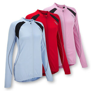 JDC-Ladies-Womens-Cycling-Jersey-Top-T-Shirt-Long-Sleeve-Blue-Red-Pink