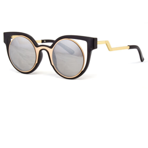 Oversized Large Big Cat Eye Mirrored Reflective Lenses Princess Women Sunglasses