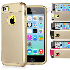 iphone 5c gold for apple iphone 5c c gold hybrid shockproof rugged 8119