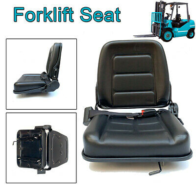 Universal Vinyl Forklift Suspension Seat Fits Clark Cat Hyster Yale Waterproof