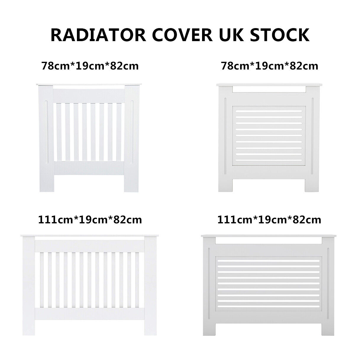 Radiator Cover Small White Painted MDF Wall Shelf Cabinet Modern Design