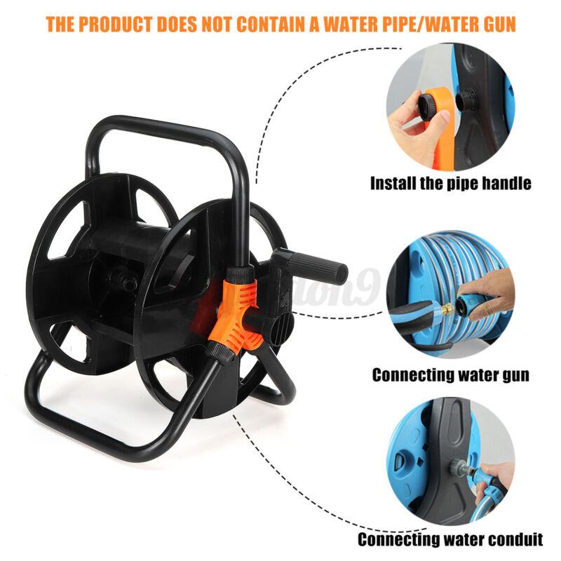 Portable Water Pipe Hose Reel Cart Garden Outdoor Cleaning Irrigation Holder