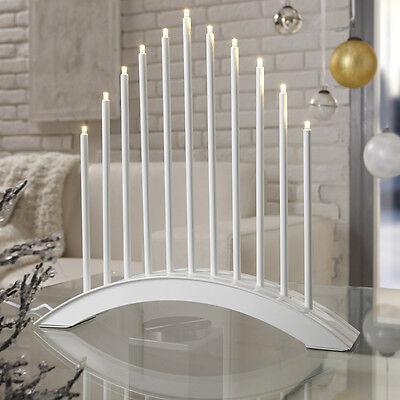 LED Stimmungsleuchte Adventsleuchter Metall Fenster Tischleuchter Weiß SL20-1