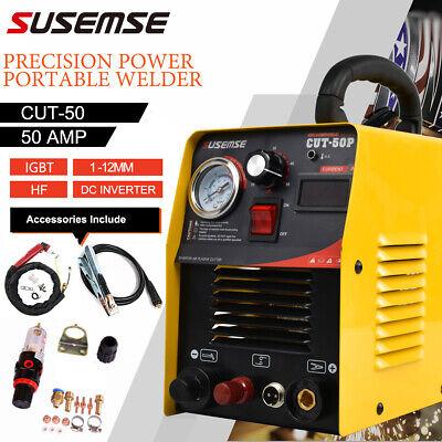 Susemse Cut50p Pilot Arc Plasma Cutter 50amp Non Touch Cutting Machine 1-12mm
