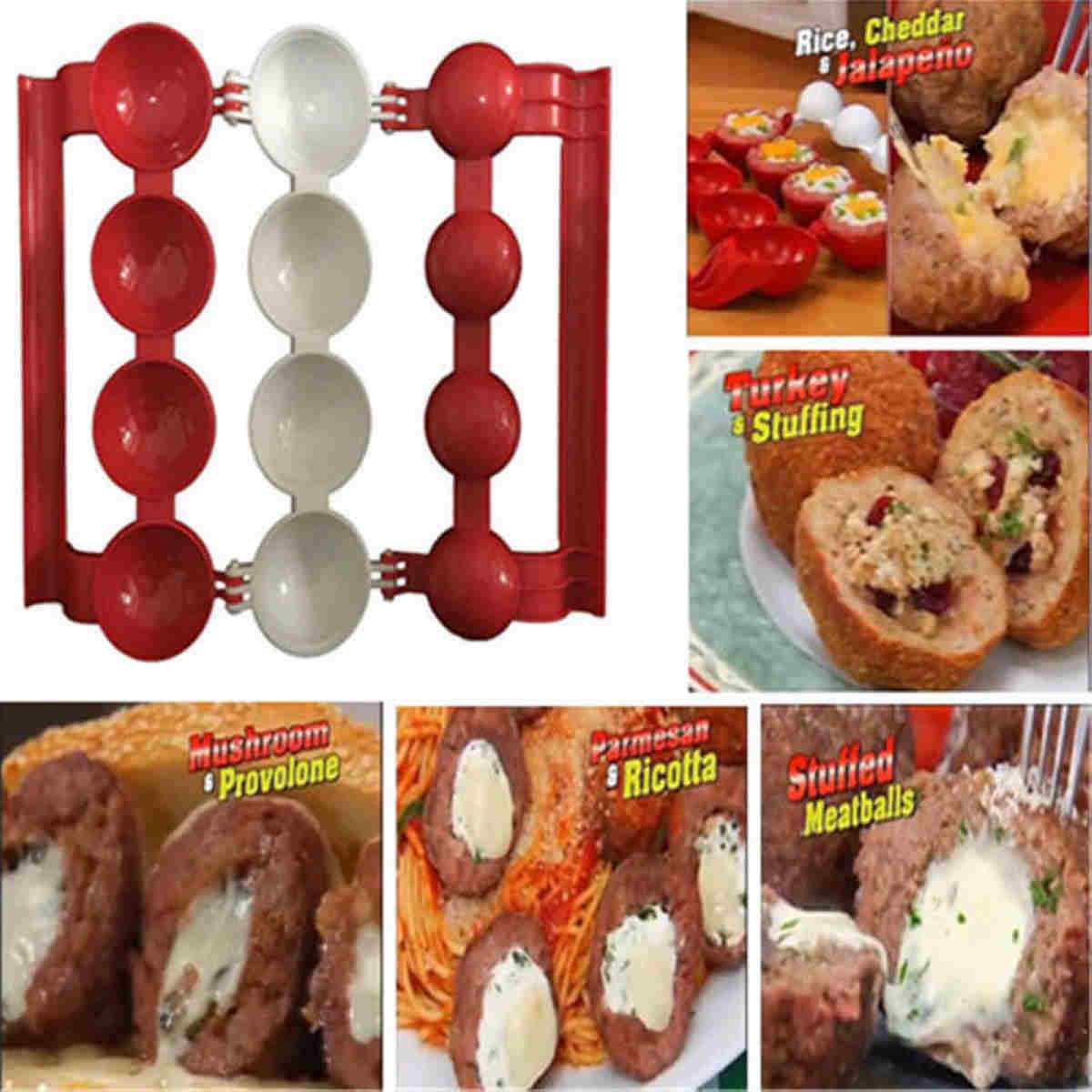 1PC Cooking Meat Ball Fish Meatball Maker Burger Mold Scoop Kitchen Tool S3