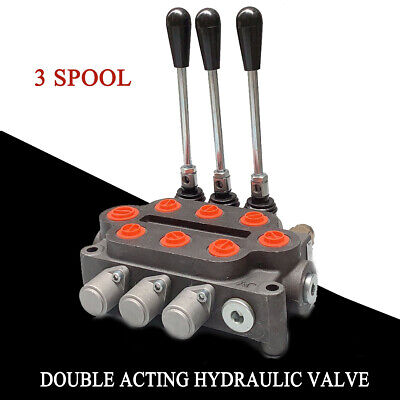 3 Spool Hydraulic Monoblock Double Acting Cylind Control Valve 25 Gpm 3000 Psi