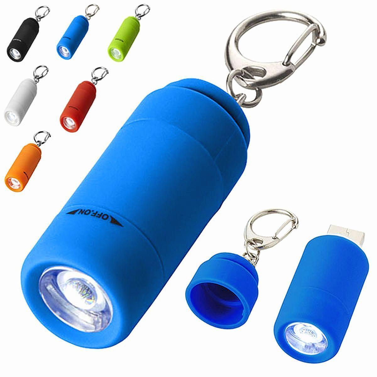 Portachiavi con Luce LED Ricaricabile Tramite USB Avior Torcia Elettrica Gadget