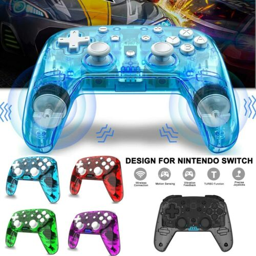 Wireless Controller Pro Rechargeable Clear Bluetooth Gamepad For Nintendo Switch Controllers & Attachments