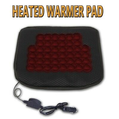 Heated Seat Cushion (Zone Tech Car Heated Seat Chair Cushion Hot Cover 12v Heater Warmer)