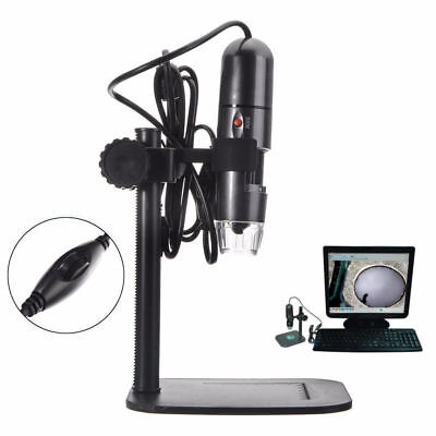 8led 1000x 10mp Usb Digital Microscope Endoscope Magnifier Camera W Stand Gift