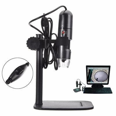 8led 1000x 10mp Usb Digital Microscope Endoscope Magnifier Camera W Stand Gift