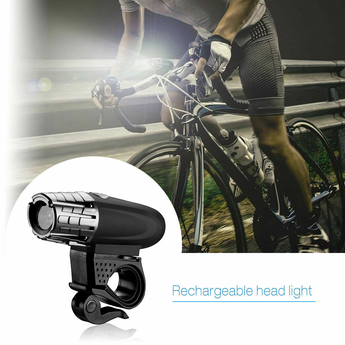 5000 Lumen 8.4V Rechargeable Cycling Light Bike Bicycle LED Front Rear Lamp Set Bicycle Accessories