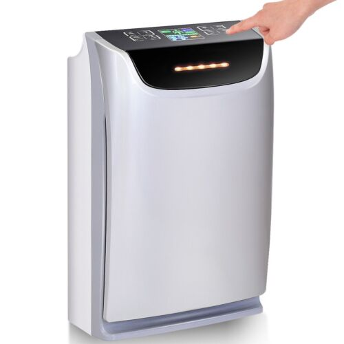 3 Speed Air Purifier Powerful HEPA Carbon Ion Air Cleaner Odor Dust Remover Room